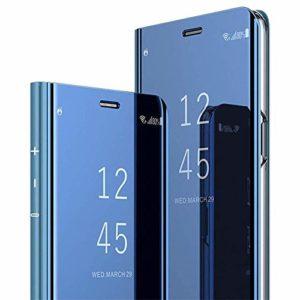 Herbests Compatible Samsung Galaxy S20 Plus Miroir bleu.
