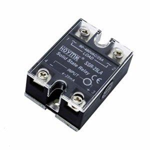 Hoymk Relais monophasé 4-20 mA Relais statique SSR10/25/40/60/80A/LA Régulateur de tension intelligent 25A