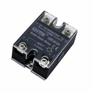 Hoymk Relais statique monophasé DC-AC SSR10/25/40/50/60/80/100 A Câble de contrôle direct du courant alternatif 80A