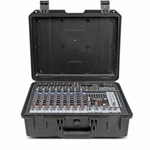 LiChaoWen Console de Plein air intégrée avec Console Portable amplifiée Portable 10 canaux et amplificateur 300W X 2 Studio Mixer Audio (Color : C1, Size : 380x285x145MM)