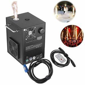 LNLN Machines Pyrotechniques 400W Cold Spark Fireworks Stage Dmx-512 Stage Machine à Effets SpéCiaux Ou TéLéCommande pour Une Grande CéRéMonie De Mariage