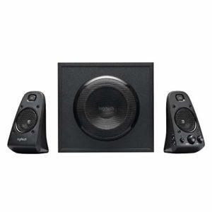 Logitech Z623 Système de Haut-Parleurs 2.1, Certifié THX, Dolby & DTS, 400 Watts en Puissance, Multi-Dispositifs, Entrées Audio 3,5 mm et RCA, Commandes Intégrées, Prise UK, PC/PS4/Xbox/TV/Smartphone