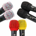 Lot de 200 housses jetables pour microphone en tissu non tissé