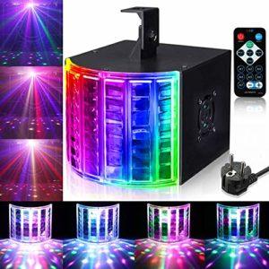 Lunsy Lampe LED 3 modes stroboscopique LED DMX pour contrôle de la lumière de fête, fête, bar, anniversaire…