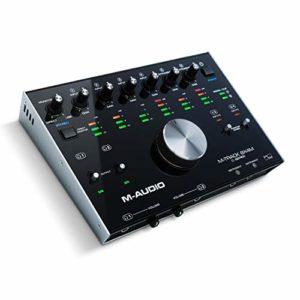 M-Audio M-Track 8X4M Interface Audio/MIDI (8 Entrées/4 Sorties) 24 Bits/192 KHz USB/USB-C avec Zéro Latence, Design Robuste en Métal et Suite de Logiciels Studio