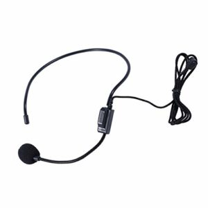 Microfono micro-casque filaire premier amplificateur de voix avec jack 3,5 mm (noir)