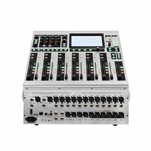 ODDINER Music Mixer 16 canaux numérique Power Mixer Stage Professionnel DSP Effets numériques Processeur Enregistrement Conférence à Distance de Mariage dédié Mixer 411x458x142mm Mixer DJ