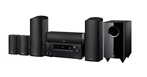 Onkyo HT-S7805(B) 5.1 Système Home Cinema 5.1 Onkyo avec récepteur AV et haut-parleurs (160 W/canal, multiroom, Dolby Atmos, Wifi, Bluetooth, Services de streaming, Internet Radio), noir