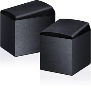 Onkyo SKH-410(B) Système d'enceintes pour Dolby Atmos (puissance d'entrée 100 W, home cinéma, enceintes satellites, caisson en bois avec revêtement en vinyle, montage mural possible), Noir