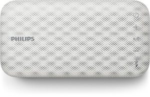 Philips Everplay BT3900W Enceinte Bluetooth Waterproof, Antichoc, avec Dragonne USB, Micro, Compacte, Blanc