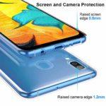 Suhctup Moda Coque Compatible pour Samsung Galaxy S8+ Plus,Transparent Silicone TPU Souple Étui avec [Motif Fleur] Crystal Ultra Fine Shock-Absorption Antichoc Protection Housse Cover Case(Fleur 9)