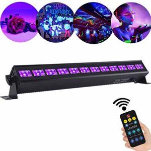 UV Lumière Bar, AONCO 36W Projecteur UV Lumière Violette 12 LEDs, Lampe à Lumière Noire Lampe Wall Washer Éclairage de Scène Parfait pour Club Party Disco KTV