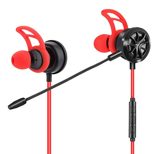 Vipxyc Omnidirectiona Gaming Earphone Silicone Ear Lock Mobile Phone Headset for Mobile Phone and Tablet