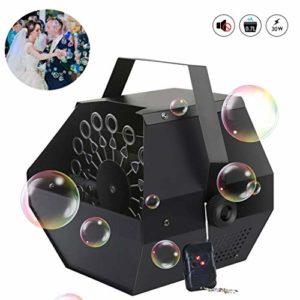 YA Étape Bubble Machine, Bubble Machine Automatique Portable sans Fil avec Machine à Bulles Automatique à Distance pour Party Mariages Tagès