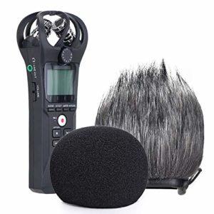 YOUSHARES Filtre en Mousse et Deadcat Pare-brise Adapté pour à Zoom H1n & H1 Enregistreur Portable, Bonnette Anti Vent pour ZOOM H1 (2 Packs)