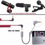 2 pcs Replacement SC4 Microphone Câble Adaptateur TRS vers TRRS, 3.5mm Female TRS vers 3.5mm Male TRRS pour Rode VideoMic, VideoMicro Go et Autres Microphones Externes…