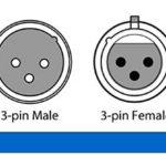 4pièces 1m long câble DMX 512DMX 3.2t True Câble DMX 3broches mâle à femelle pour DMX Stage lumières