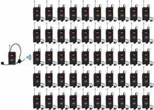 Anleon MTG-100 UHF Système de guidage sans fil 902-927 MHz pour guides de visites musées, églises, etc. 1 transmitter & 50 receivers