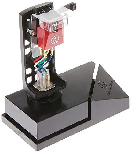 Audio Technica VM540ML/H Dual Moving Magnet Phono Cartridge/Headshell Combo Kit with MicroLine Stylus 1/2″ Mount (Black/Red)