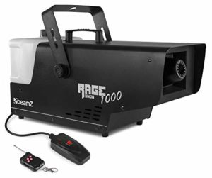 Beamz Rage 1000 Machine à Neige avec contrôleur sans Fil • Effet Flocons de Neige • Grand réservoir de 2000 ML • Puissance 1000 Watts • Corps en métal Solide