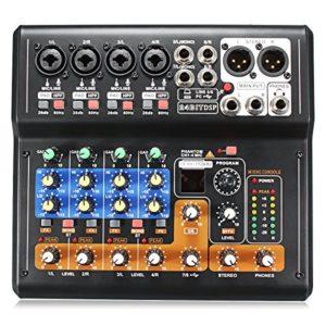 BliliDIY Portable 8 Canaux Professional Live Studio Audio Ktv Karaoke Mixer USB Mixing Console 48V