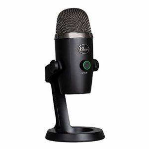 Blue Microphone USB à condensateur Yeti Nano Professional avec motifs de collecte multiples et surveillance sans latence pour l'enregistrement et la lecture en continu sur PC et Mac – Noire