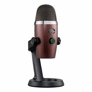 Blue Microphone USB à condensateur Yeti Nano Professional avec motifs decollecte multiples et surveillance sans latence pour l'enregistrement et lalecture en continu sur PC et Mac – Onyx rouge