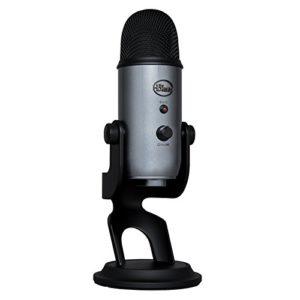 Blue Microphones Yeti, Micro USB pour Enregistrer et Diffuser sur PC et Mac, 3 Capsules Statiques, 4 Diagrammes Directionnels, Sortie Casque et Commandes de Volume – Lunar Grey
