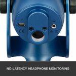Blue Microphones Yeti, Micro USB pour Enregistrer et Diffuser sur PC et Mac, 3 Capsules Statiques, 4 Diagrammes Directionnels, Sortie Casque et Commandes de Volume – Midnight Bleu