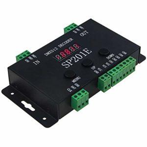 Bobotron SP201E DMX512 WS2812B WS2811 Décodeur contrôleur DMX vers SPI, compatible avec plusieurs circuits intégrés
