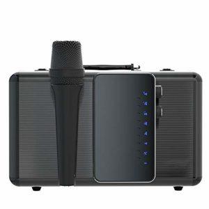 BTTNW Microphone Chant Professionnel scène en Direct Wired Vocal Microphone Dynamique Microphone Bluetooth Accompagnement Microphone sans Fil (Couleur : Gris, Size : 15x9x29cm)