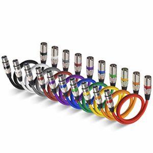 Câble XLR EBXYA Câble Jack XLR Mâle à Femelle Câble de Microphone Professionnel Cable Dmx 2M 10pack