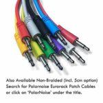 Câbles de raccordement Eurorack – Ensemble de 5 câbles de raccordement mono tressés de 3,5 à 3,5 mm à utiliser avec les synthétiseurs modulaires (10 couleurs / 5 longueurs)