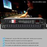 Conditionneur d'alimentation CA Audio 9 Canaux, Filtre De Tension, Élimination du Bruit Et des Interférences, Séquenceur Processeur avec Port Série 232