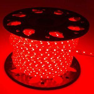 Cordon lumineux LED rouge -Tube lumineux- Bande LED (15 mètres)