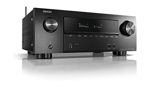 Denon AVRX2500H 7.2 Récepteur AV surround (Alexa Compartible, Phono, Dolby Vision, Dolby Atmos, dtsx, WLAN, Bluetooth, Amazon Music, Spotify Connect, entrées HDMI, 7 x 150 W) Noir