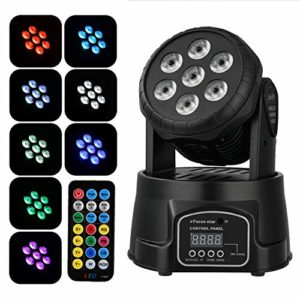 Donner Lyre LED Eclairage de Scene RGBW 60W DMX 9/14 Canaux avec Télécommande