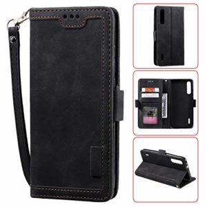 Étui portefeuille en cuir pour Xiaomi Mi A3 avec fonction support, résistant aux chocs, fentes pour cartes de crédit
