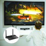 EXCEART Adaptateur Audio Émetteur Et Récepteur sans Fil pour Projecteur Stéréo TV (Noir)