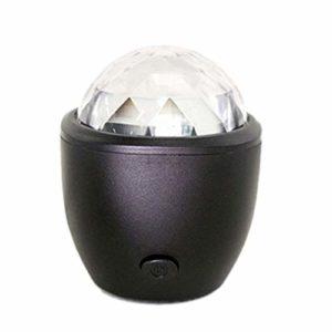 Haude Boule magique USB de cristal Flash DJ lumières disco boule de fête scène projecteur LED voix activé pour la maison KTV voiture