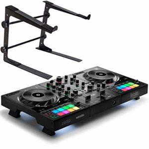 Herkules DJControl Inpulse 500 Contrôleur DJ 2 Deck + Support pour ordinateur portable Keepdrum HALS-10