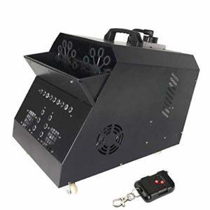 Idéal Machine de Bulle Automatique Machine Professionnelle avec Les Lumières de LED Télécommande sans Fil avec La Lampe D'effet D'étape pour Parties Mariages Disco Amusement (Color : 2)