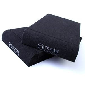 Isolateur acoustique pour haut-parleurs de moniteur de studio – Tampons isolateurs en mousse – 2 tailles – Par Nordell Audio Small (170 x 300 x 40)