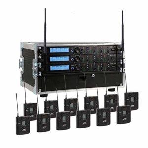 JTS Système racked up 12 voies avec 12 micros portatifs JSS-4B et mallette