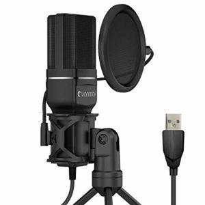 Kungber Microphone USB, Microphone à Condensateur Enregistrement PC pour Studio d'enregistrement, Vidéo YouTube, Conversation, Podcast, Jeu