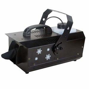 LYYAN Excellente 600W Machine à Neige Virtuelle Effet Compacte Neige Naturelle Télécommande sans Fil Contrôleur Neige Noël Halloween Animations Hivernales 36 * 23 * 21cm Prendre Plaisir