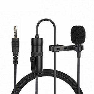 Microphone Cravate, Mini Clip Professionnel 3,5 Mm Sur Microphone à Condensateur De Revers, Pour Ordinateur, Enregistrement, Entretien, Appareil Photo, Smartphone