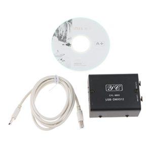 Milageto 1 Pièce 512 Canaux USB à DMX512 LED Light DMX- Controller