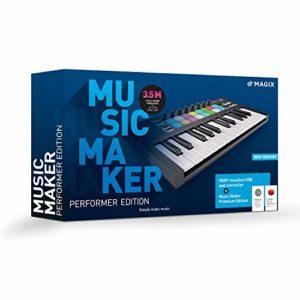 Music Maker 2021 Performer Edition : Music Maker Premium 2021 Edition + contrôleur de pads USB|Performer|Multiple|Endless|PC|Disque