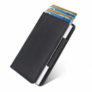 Neue Kreditkartentasche aus Aluminium von Hand eindrücken, automatische Anti-Entmagnetisierungs-Bankkarte, Clip-Metallclip